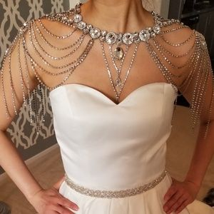Jewelry - Bride bridal Crystal Shoulder Chain necklace Bling